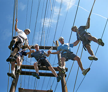 Ropes Course High Amp Low Team Building Adventure