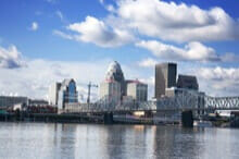 A view of Louisville Kentucky where we facilitate team building activities to help build your team